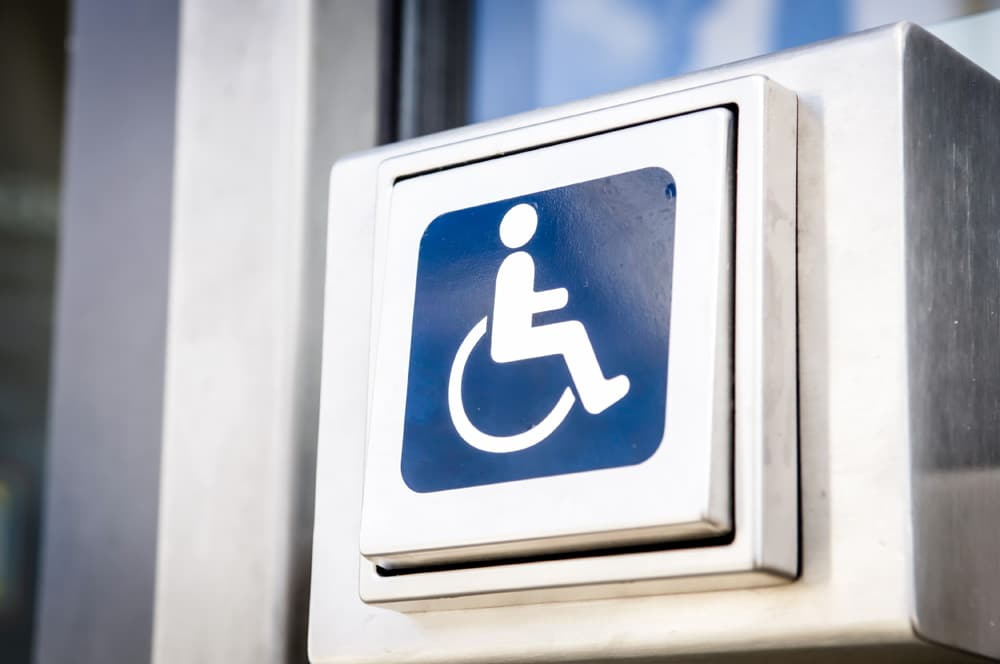 Automatic Disabled Door with button